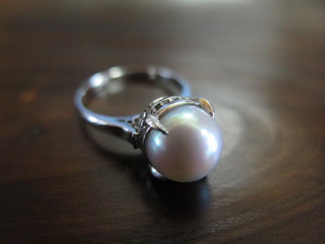 真珠 千本透かし リング