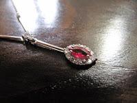 中古 ルビー 0.43 メレダイヤモンド プラチナ ネックレス