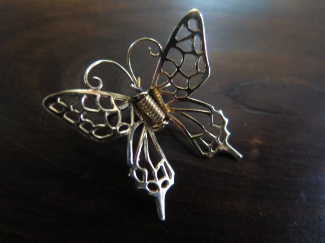 K18 アゲハ蝶 ブローチ