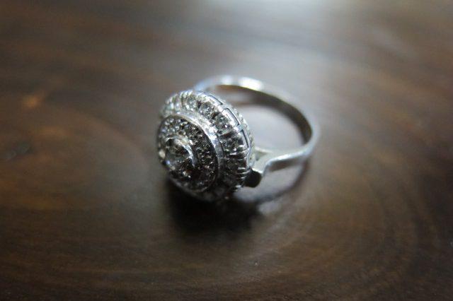 ダイヤモンド計0.73 Pt850 短め千本透かし リング