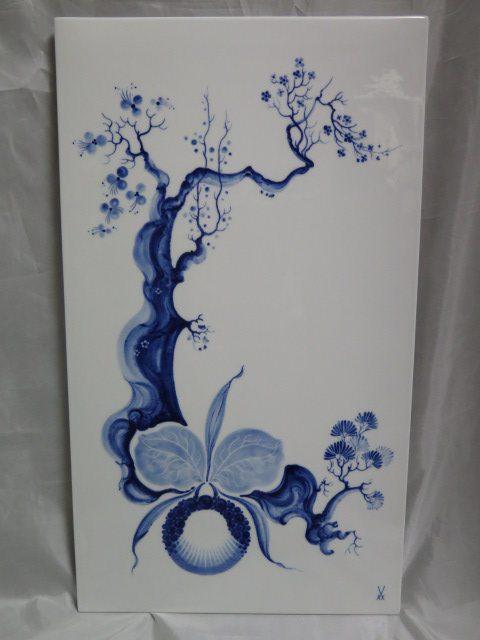 マイセンブルーオーキッド陶板/陶額 72.5cmx41.5cm