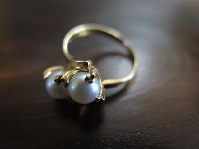 真珠 トワエモア 芯なし リング