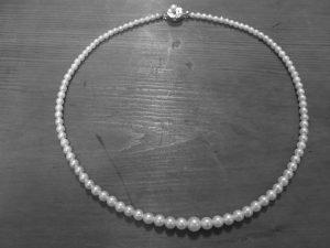 アコヤ真珠 3.2-6.9mm グラデーションネックレス
