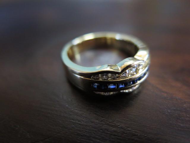 ミキモト サファイア ダイヤモンド K18 リング 中古