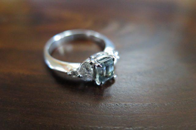 パーティーカラードサファイア1.09  ダイヤモンド0.33 Pt900 中古 /8064
